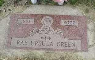 GREEN, RAE URSULA - Will County, Illinois | RAE URSULA GREEN - Illinois Gravestone Photos