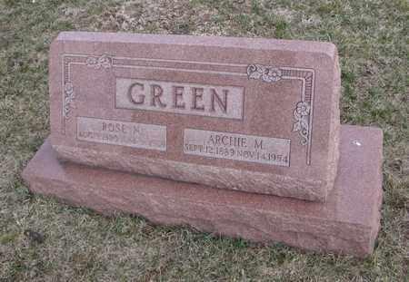 GREEN, ARCHIE M. - Will County, Illinois | ARCHIE M. GREEN - Illinois Gravestone Photos
