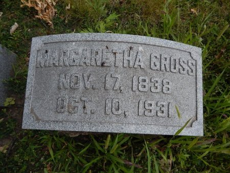 GROSS, MARGARETHA - Will County, Illinois | MARGARETHA GROSS - Illinois Gravestone Photos