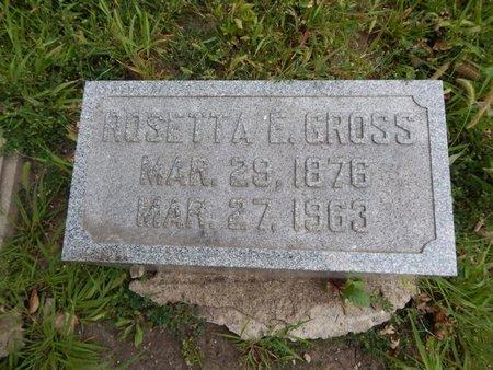 GROSS, ROSETTA E - Will County, Illinois   ROSETTA E GROSS - Illinois Gravestone Photos