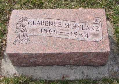 HYLAND, CLARENCE M. - Will County, Illinois | CLARENCE M. HYLAND - Illinois Gravestone Photos