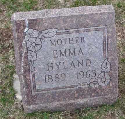 HYLAND, EMMA - Will County, Illinois   EMMA HYLAND - Illinois Gravestone Photos