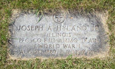 HYLAND, JOSEPH A. - Will County, Illinois   JOSEPH A. HYLAND - Illinois Gravestone Photos