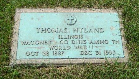 HYLAND, THOMAS - Will County, Illinois   THOMAS HYLAND - Illinois Gravestone Photos