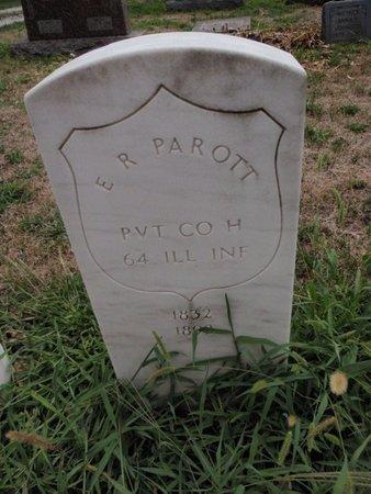 PAROTT (VETERAN USA), E R - Will County, Illinois   E R PAROTT (VETERAN USA) - Illinois Gravestone Photos
