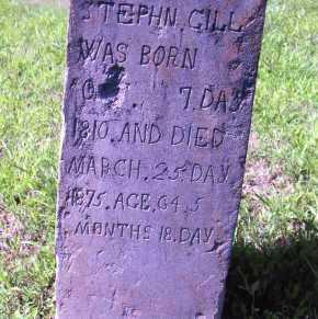 GILL, STEPHEN - Williamson County, Illinois | STEPHEN GILL - Illinois Gravestone Photos