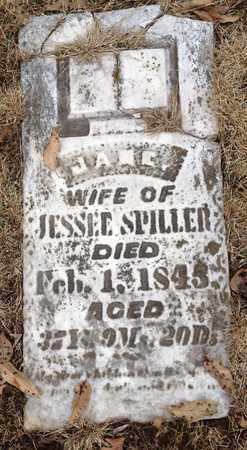 SPILLER, JANE - Williamson County, Illinois | JANE SPILLER - Illinois Gravestone Photos