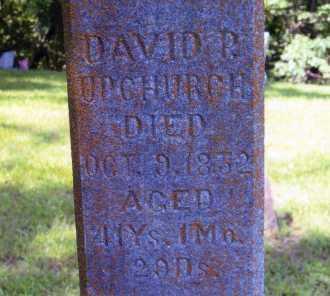 UPCHURCH, DAVID P - Williamson County, Illinois | DAVID P UPCHURCH - Illinois Gravestone Photos