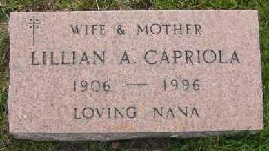 CAPRIOLA, LILLIAN - Winnebago County, Illinois   LILLIAN CAPRIOLA - Illinois Gravestone Photos