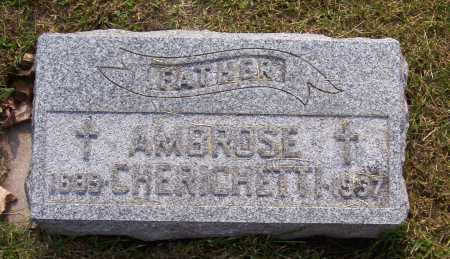 CHERICHETTI, AMBROSE - Winnebago County, Illinois   AMBROSE CHERICHETTI - Illinois Gravestone Photos