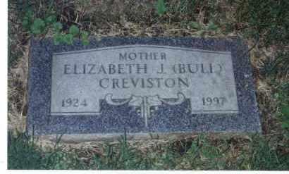 CREVISTON, ELIZABETH J - Winnebago County, Illinois | ELIZABETH J CREVISTON - Illinois Gravestone Photos