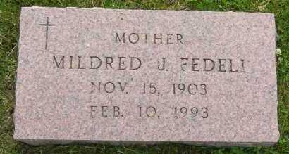 FEDELI, MILDRED - Winnebago County, Illinois | MILDRED FEDELI - Illinois Gravestone Photos