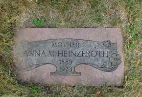 WHETZEL HEINZEROTH, ANNA - Winnebago County, Illinois | ANNA WHETZEL HEINZEROTH - Illinois Gravestone Photos