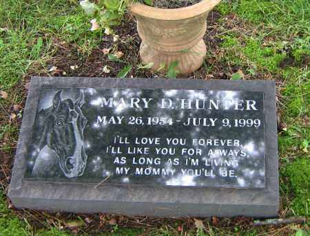 HUNTER, MARY D - Winnebago County, Illinois | MARY D HUNTER - Illinois Gravestone Photos