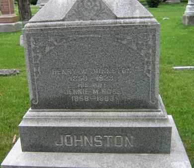 JOHNSTON, JENNIE M - Winnebago County, Illinois   JENNIE M JOHNSTON - Illinois Gravestone Photos