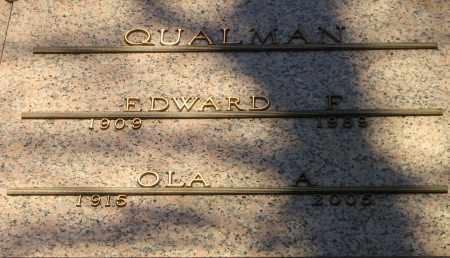 SHAW QUALMAN, OLA A - Winnebago County, Illinois | OLA A SHAW QUALMAN - Illinois Gravestone Photos