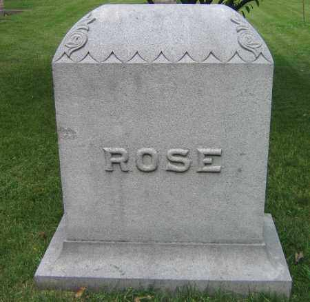 ROSE, FAMILY STONE (WHITE ONE) - Winnebago County, Illinois | FAMILY STONE (WHITE ONE) ROSE - Illinois Gravestone Photos