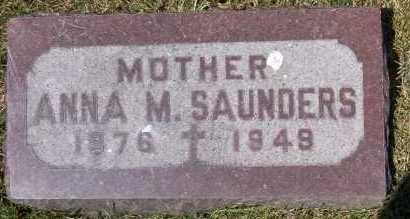 SAUNDERS, ANNA - Winnebago County, Illinois | ANNA SAUNDERS - Illinois Gravestone Photos
