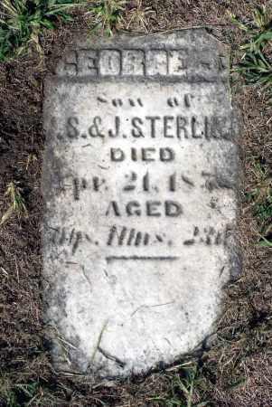 STERLING, GEORGE JUSTIN - Winnebago County, Illinois   GEORGE JUSTIN STERLING - Illinois Gravestone Photos