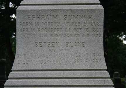 BLAKE SUMNER, BETSEY - Winnebago County, Illinois | BETSEY BLAKE SUMNER - Illinois Gravestone Photos