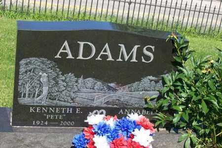 ADAMS, KENNETH E. - Woodford County, Illinois   KENNETH E. ADAMS - Illinois Gravestone Photos