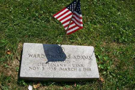 ADAMS, LT. WARD THOMAS - Woodford County, Illinois | LT. WARD THOMAS ADAMS - Illinois Gravestone Photos