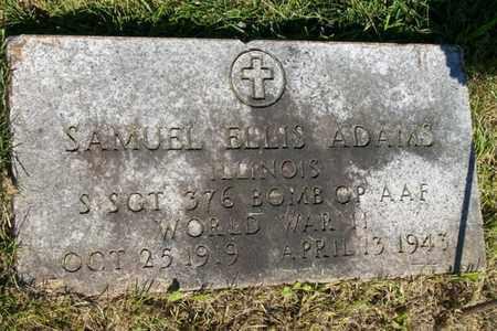 ADAMS, SGT SAMUEL ELLIS - Woodford County, Illinois   SGT SAMUEL ELLIS ADAMS - Illinois Gravestone Photos