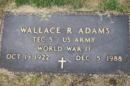 ADAMS, WALLACE R. MILITARY STONE - Woodford County, Illinois | WALLACE R. MILITARY STONE ADAMS - Illinois Gravestone Photos