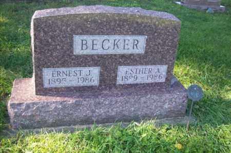 BECKER, ESTHER A. - Woodford County, Illinois | ESTHER A. BECKER - Illinois Gravestone Photos