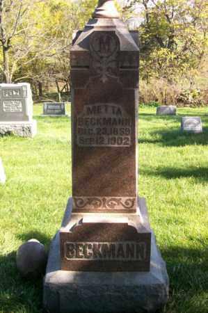 BECKMANN, METTA - Woodford County, Illinois   METTA BECKMANN - Illinois Gravestone Photos