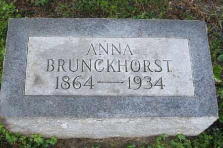 BRUNCKHORST, ANNA - Woodford County, Illinois | ANNA BRUNCKHORST - Illinois Gravestone Photos