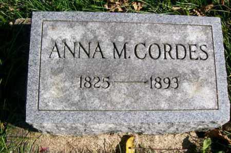CORDES, ANNA M. - Woodford County, Illinois   ANNA M. CORDES - Illinois Gravestone Photos