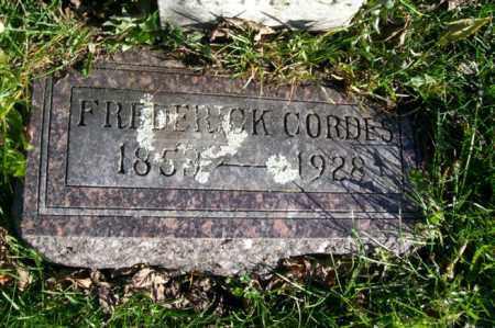 CORDES, FREDERICK - Woodford County, Illinois | FREDERICK CORDES - Illinois Gravestone Photos