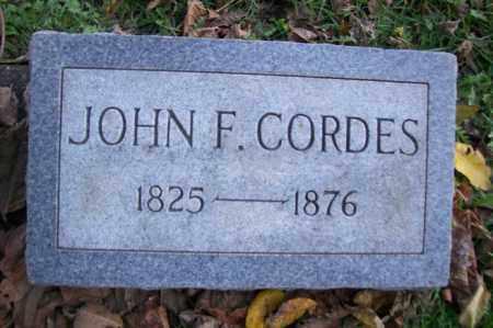CORDES, JOHN F. - Woodford County, Illinois | JOHN F. CORDES - Illinois Gravestone Photos