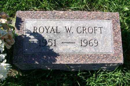 CROFT, ROYAL W. - Woodford County, Illinois   ROYAL W. CROFT - Illinois Gravestone Photos