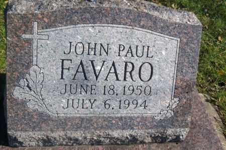 FAVARO, JOHN PAUL - Woodford County, Illinois | JOHN PAUL FAVARO - Illinois Gravestone Photos