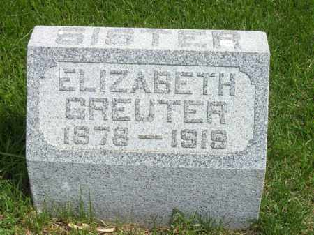 GREUTER, ELIZABETH - Woodford County, Illinois   ELIZABETH GREUTER - Illinois Gravestone Photos