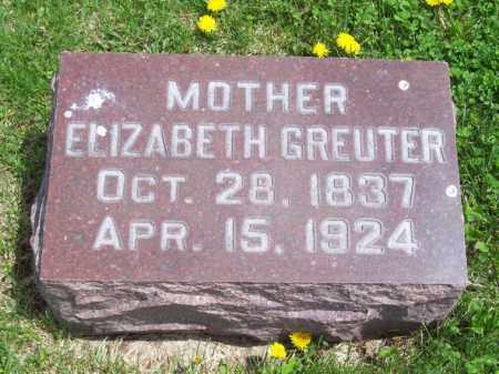GREUTER, ELIZABETH - Woodford County, Illinois | ELIZABETH GREUTER - Illinois Gravestone Photos
