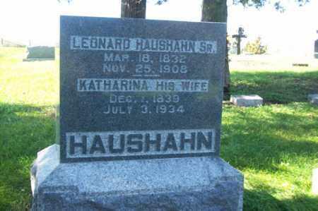 HAUSHAHN, KATHARINA - Woodford County, Illinois | KATHARINA HAUSHAHN - Illinois Gravestone Photos