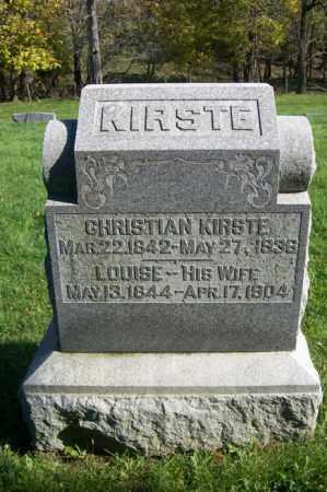 KIRSTE, CHRISTIAN - Woodford County, Illinois | CHRISTIAN KIRSTE - Illinois Gravestone Photos