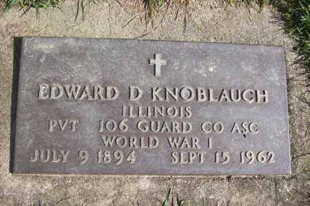 KNOBLAUCH, EDWARD D. - Woodford County, Illinois | EDWARD D. KNOBLAUCH - Illinois Gravestone Photos