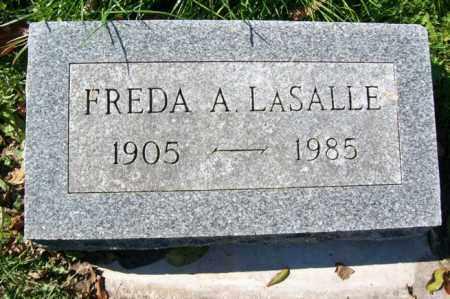 LASALLE, FREDA A. - Woodford County, Illinois   FREDA A. LASALLE - Illinois Gravestone Photos