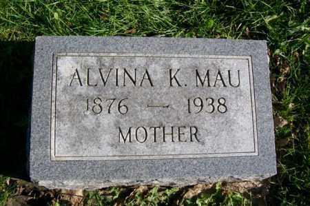 MAU, ALVINA K. - Woodford County, Illinois   ALVINA K. MAU - Illinois Gravestone Photos