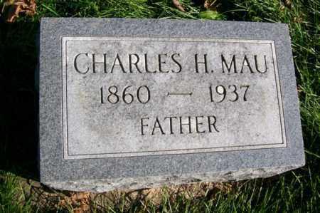 MAU, CHARLES H. - Woodford County, Illinois   CHARLES H. MAU - Illinois Gravestone Photos