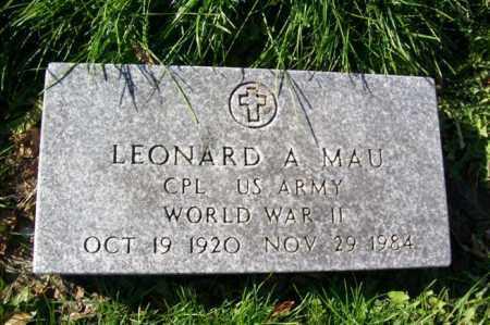 MAU, LEONARD A. - Woodford County, Illinois | LEONARD A. MAU - Illinois Gravestone Photos