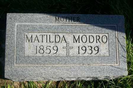 MODRO, MATILDA - Woodford County, Illinois   MATILDA MODRO - Illinois Gravestone Photos