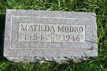 MODRO, MATILDA - Woodford County, Illinois | MATILDA MODRO - Illinois Gravestone Photos