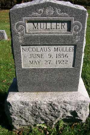 MULLER, NICOLAUS - Woodford County, Illinois | NICOLAUS MULLER - Illinois Gravestone Photos