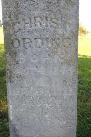 ORDING, CHRIST - Woodford County, Illinois | CHRIST ORDING - Illinois Gravestone Photos