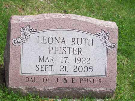 PFISTER, LEONA RUTH - Woodford County, Illinois   LEONA RUTH PFISTER - Illinois Gravestone Photos